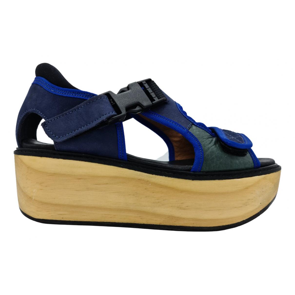 P.a.m. - Sandales   pour femme en cuir - marine