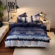 Starry Sky Print Bedding Set Without Filler