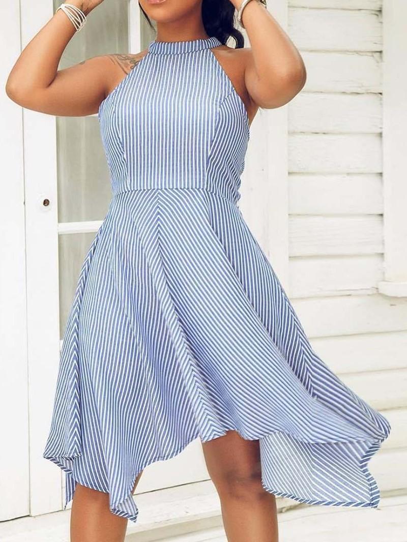 Ericdress Knee-Length Asymmetric Sleeveless Pullover Dress