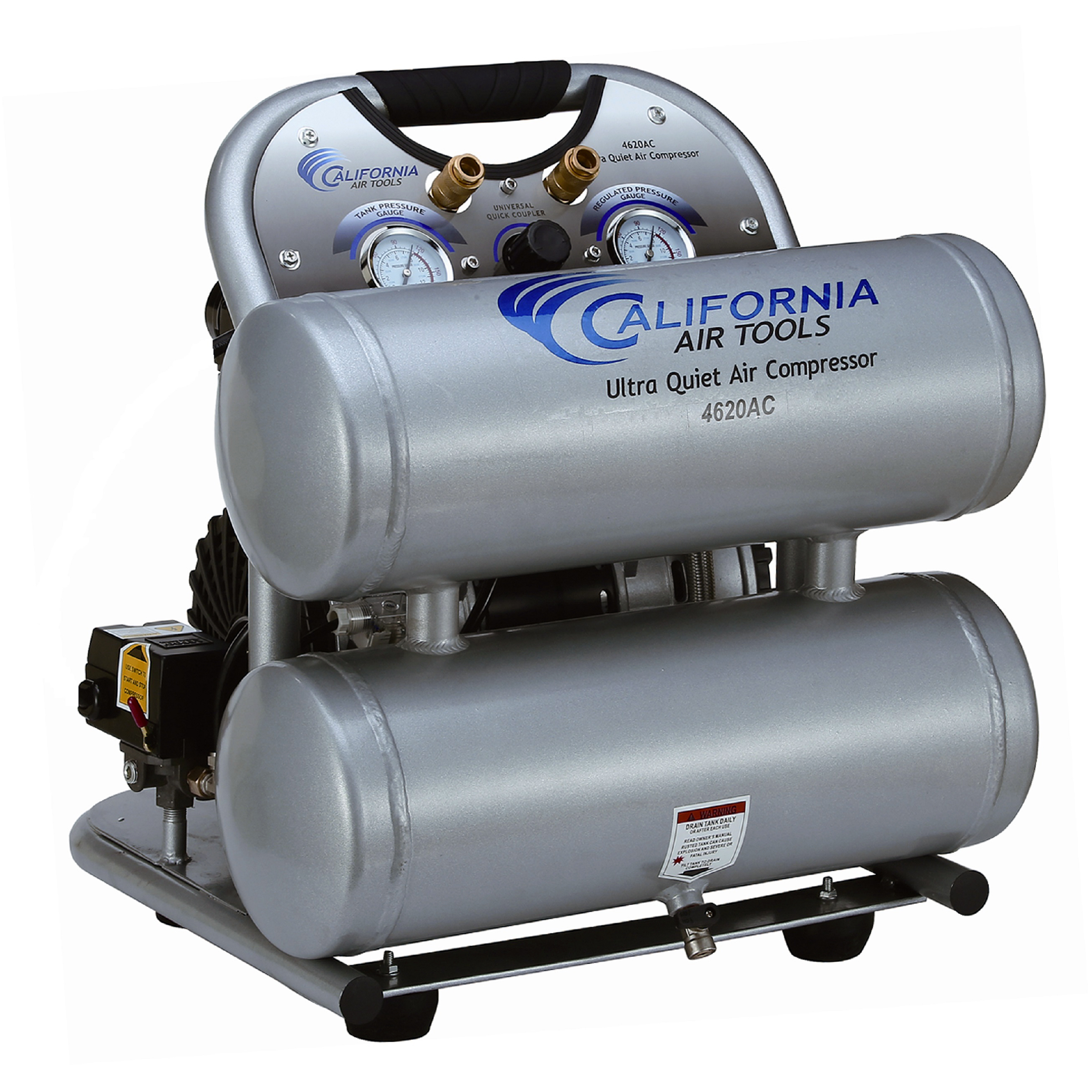 4620AC Ultra Quiet 2 HP, 4 Gal. Aluminum Air Compressor