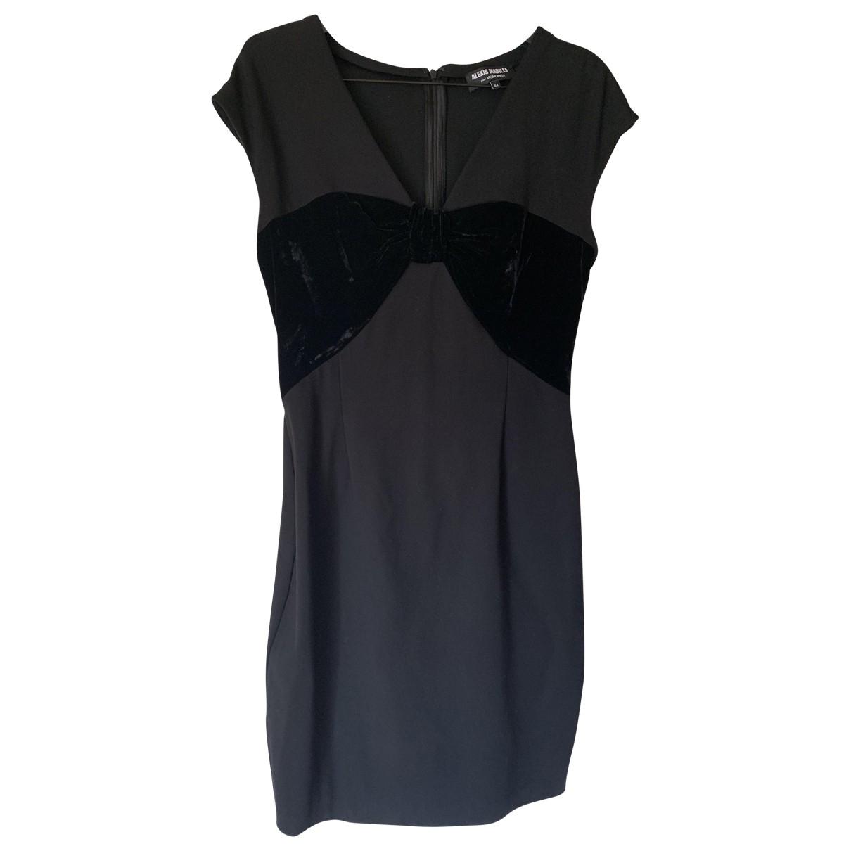 Alexis Mabille \N Kleid in  Schwarz Viskose