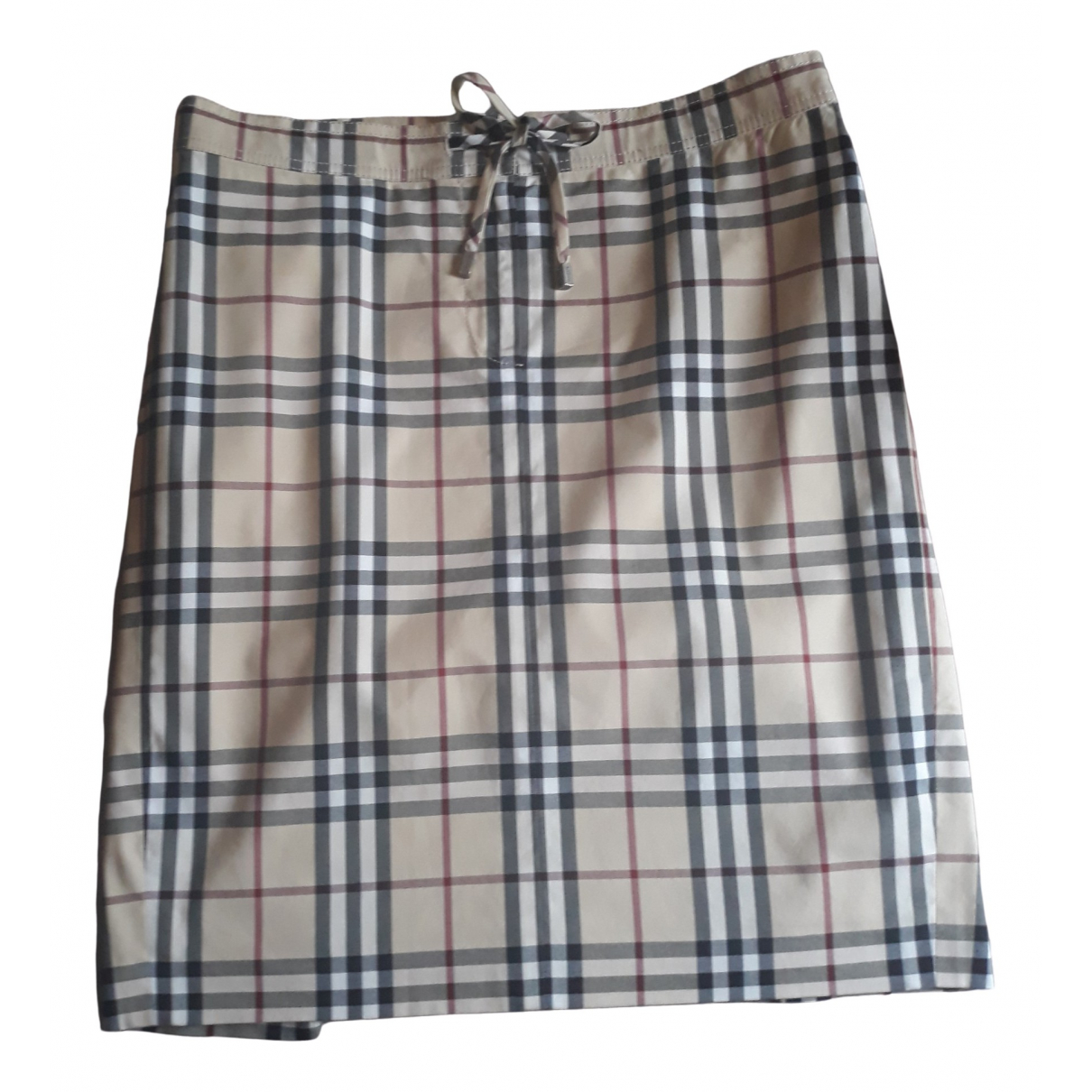 Burberry \N Beige Cotton skirt for Women 12 UK