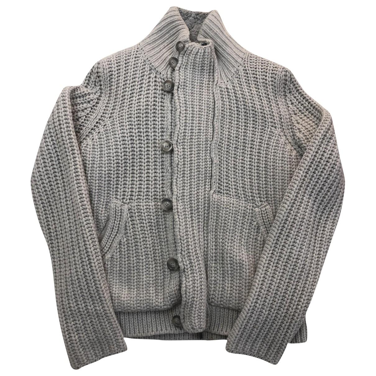 Esemplare \N Pullover.Westen.Sweatshirts  in  Grau Wolle