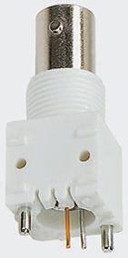 TE Connectivity , ZDC Straight 50Ω PCB MountBulkhead Fitting BNC Connector, jack, Nickel, Through Hole Termination