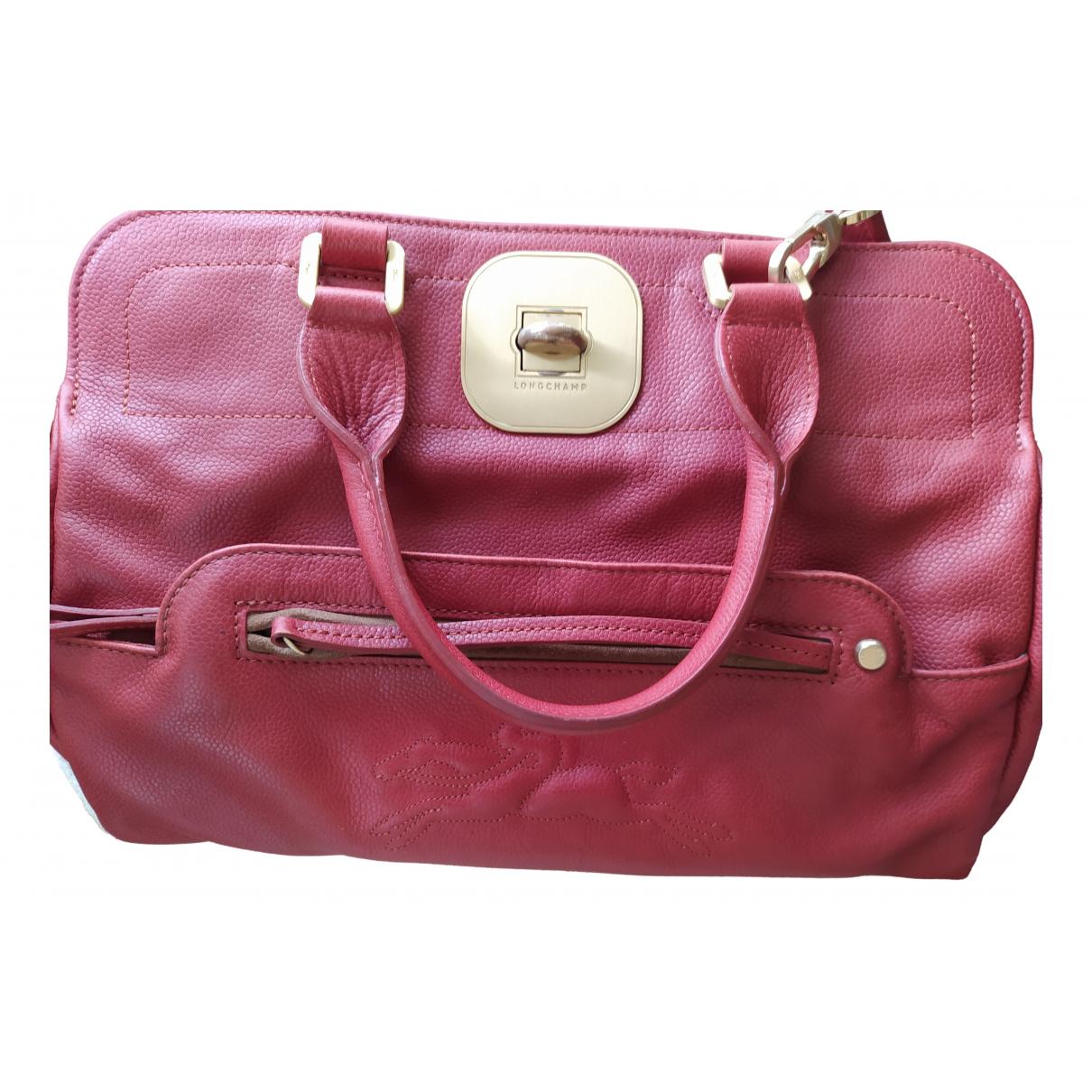 Longchamp - Sac a main Gatsby pour femme en cuir - bordeaux