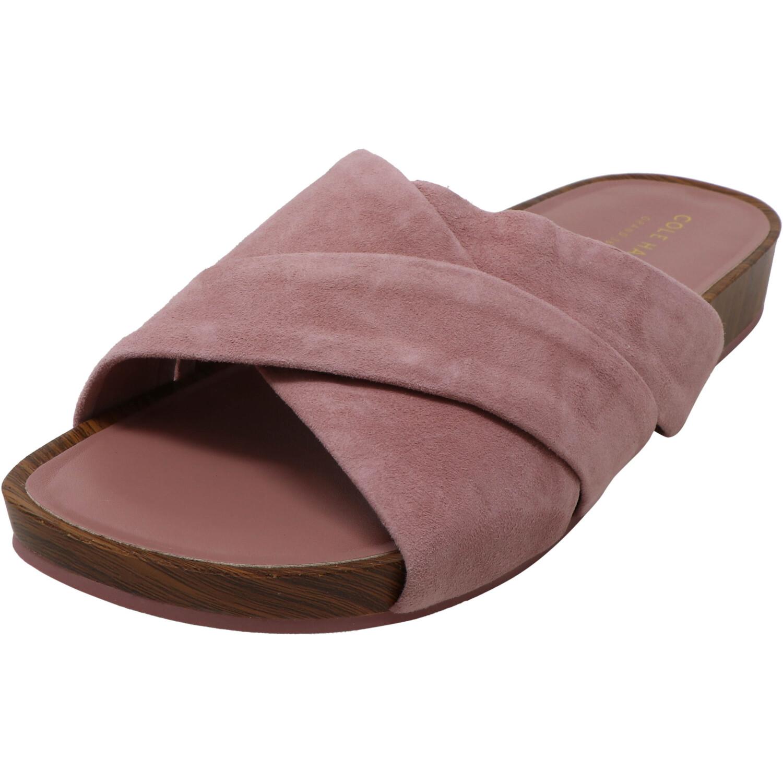 Cole Haan Women's Braelyn Footbed Suede Burlwood Ankle-High Sandal - 6.5M
