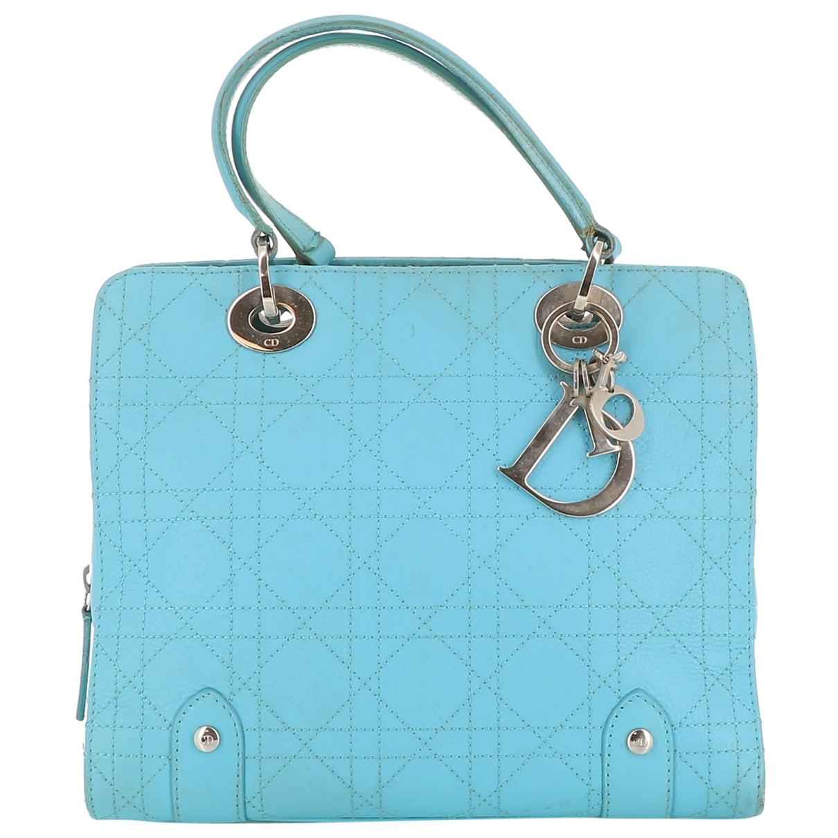Dior - Sac a main   pour femme en cuir - bleu