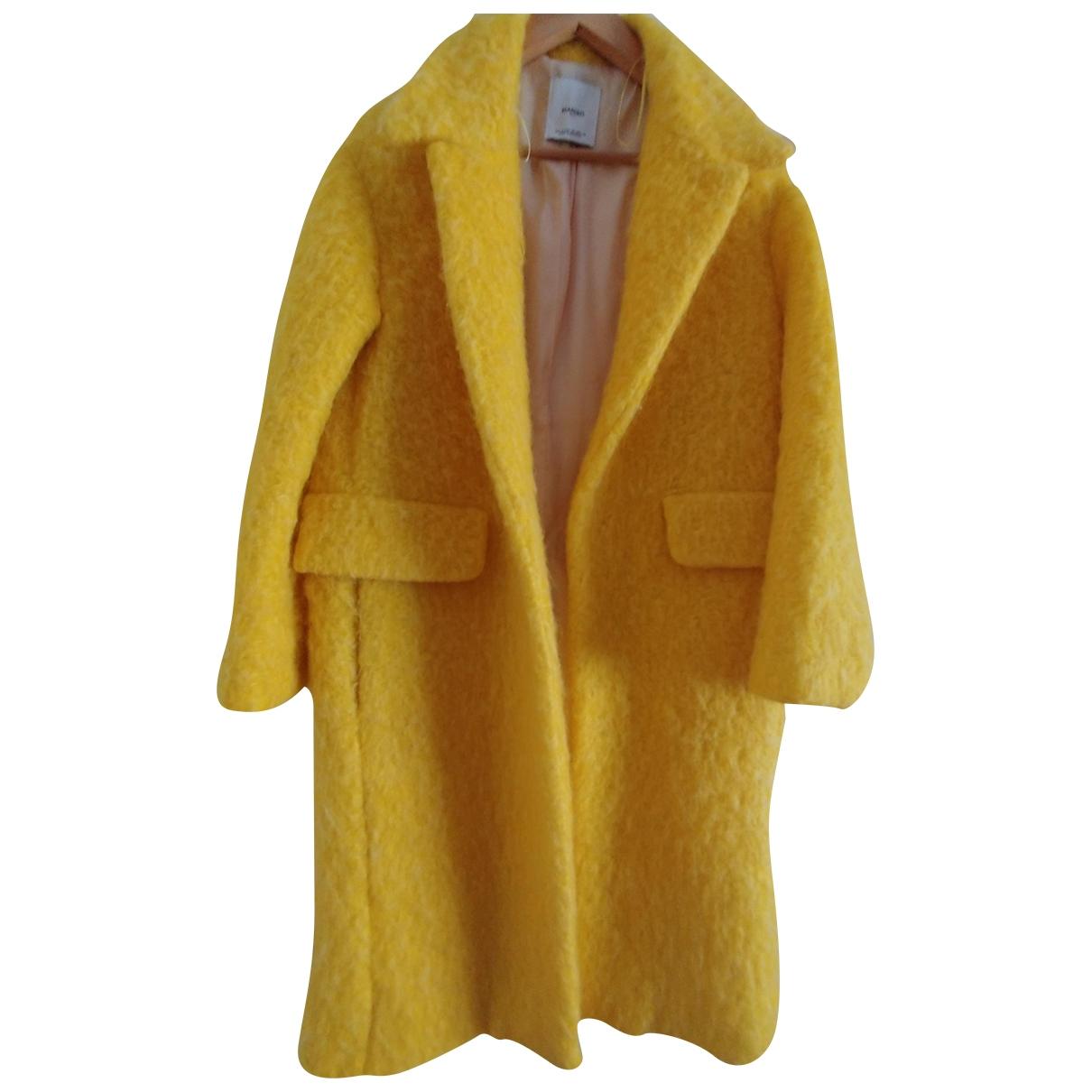 Mango \N Maentel in  Gelb Synthetikpelz