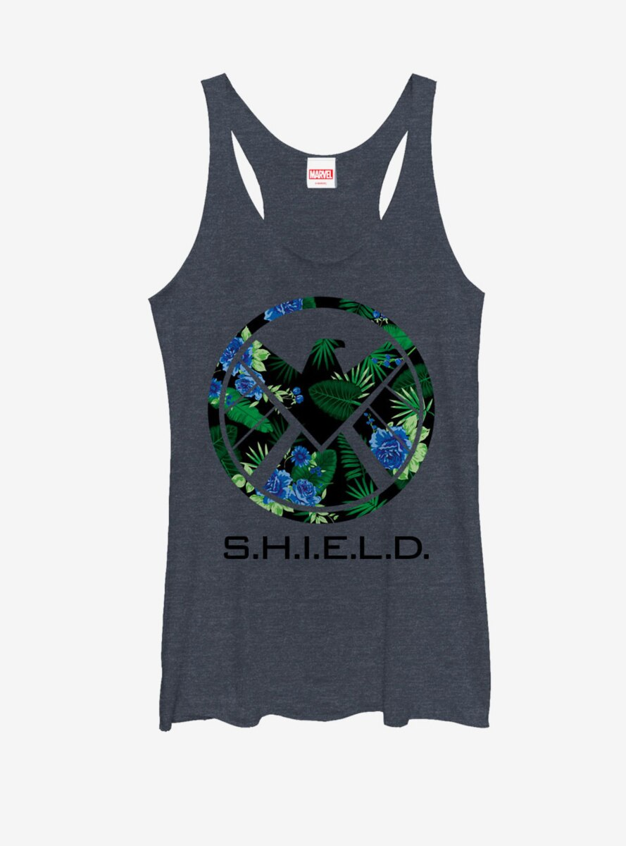 Marvel Agents of SHIELD Tropical Print Logo