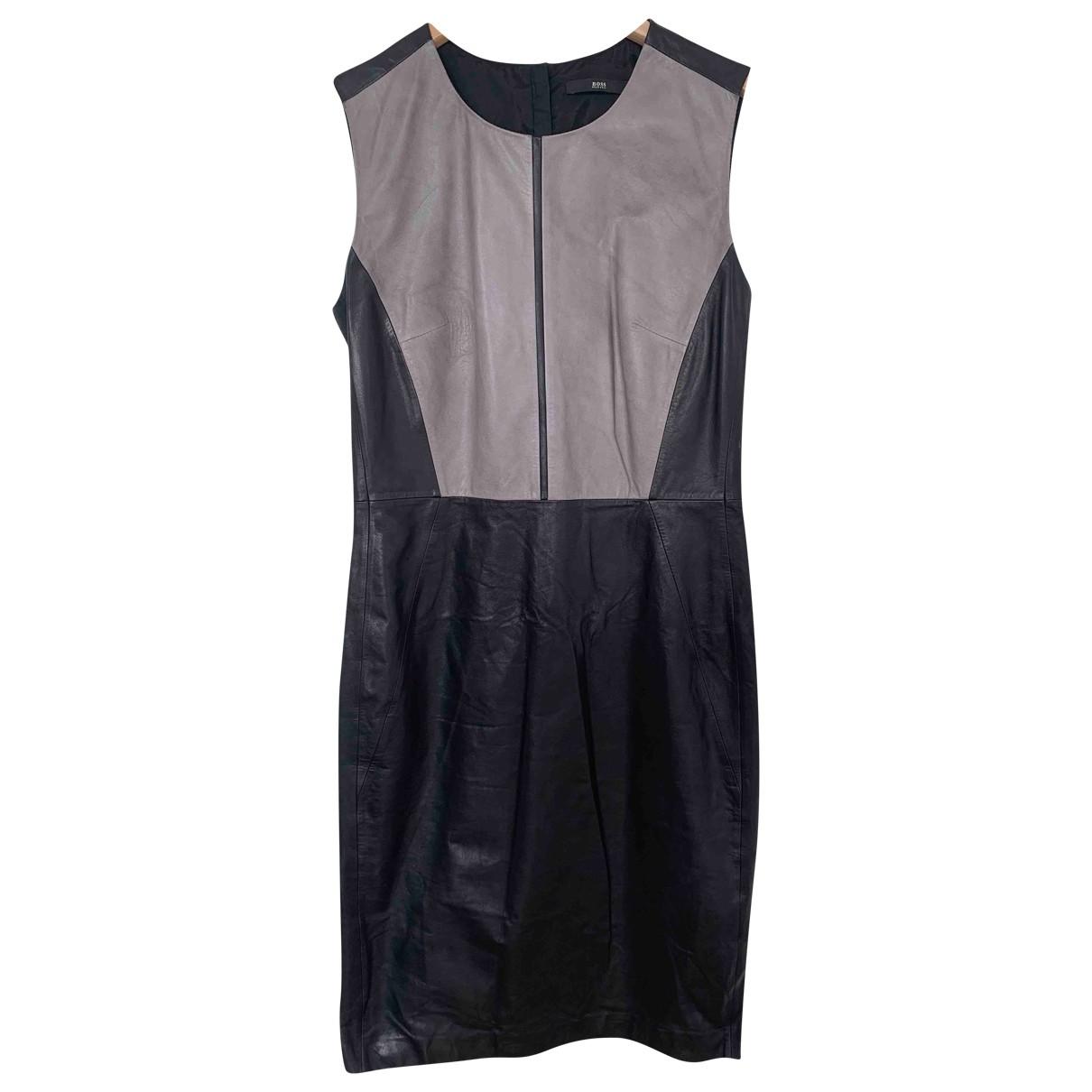 Boss \N Black Leather dress for Women 40 FR