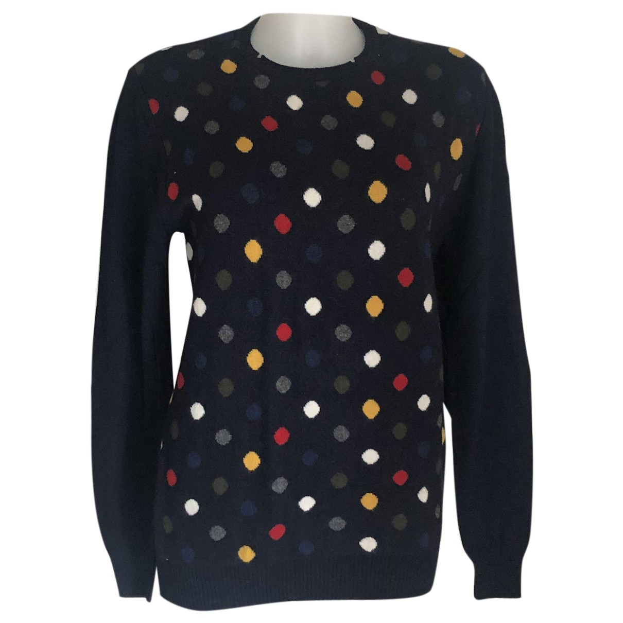 Non Signé / Unsigned N Blue Wool Knitwear for Women M International