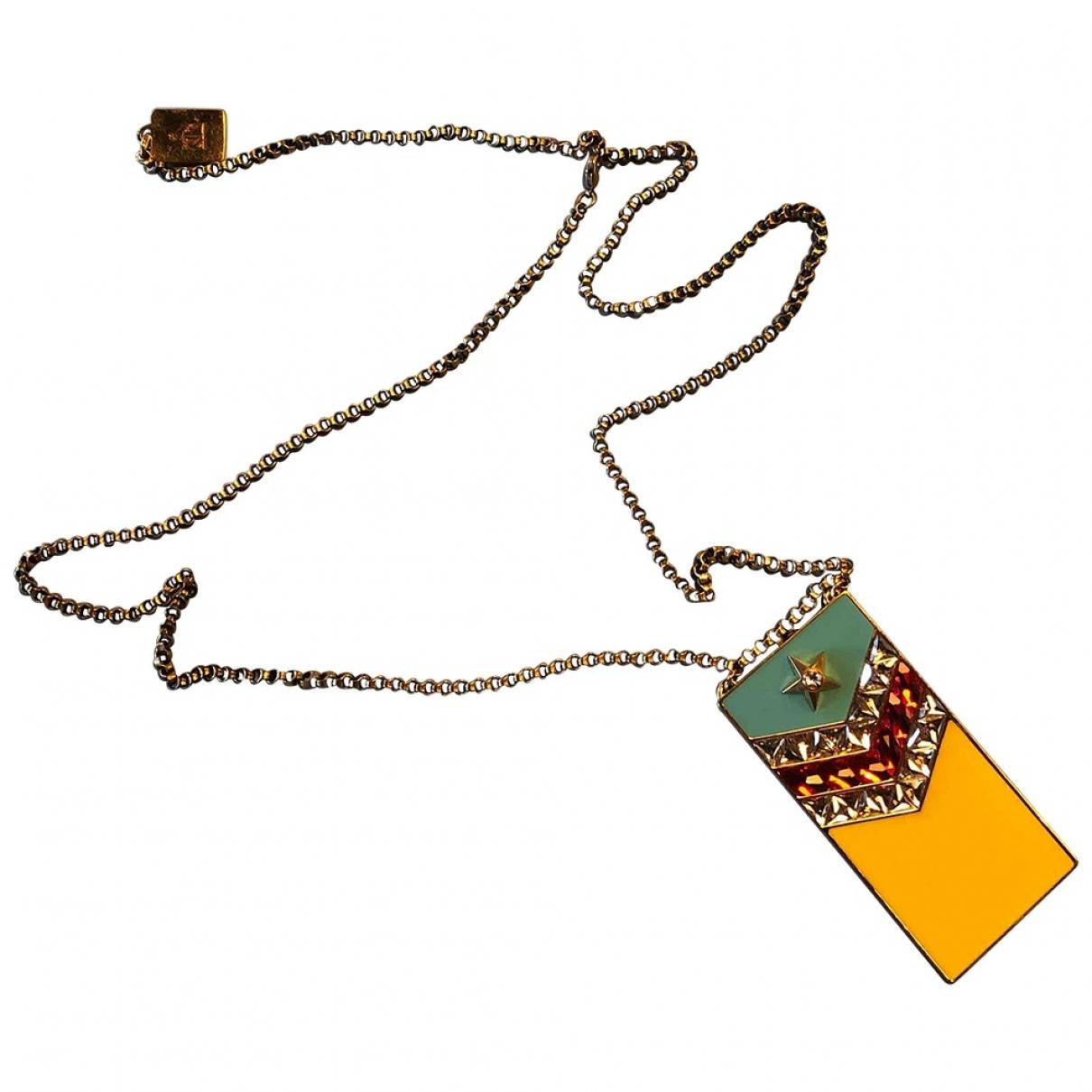 Lanvin - Sautoir   pour femme en metal - jaune