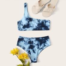 Sets de bikini Tie-Dye Azul Sexy