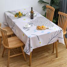1pc Flower Print Tablecloth