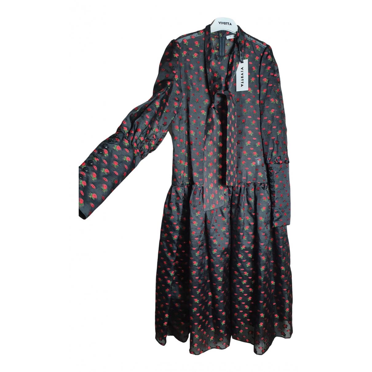 Vivetta \N Kleid in  Schwarz Seide