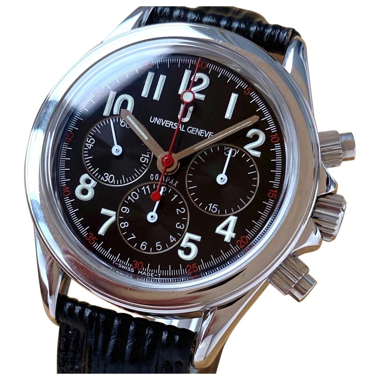 Universal Geneve \N Black Steel watch for Men \N