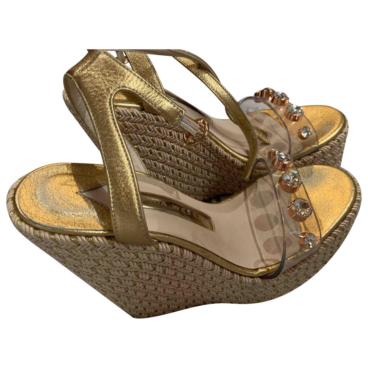 Sophia Webster \N Espadrilles in  Gold Leder