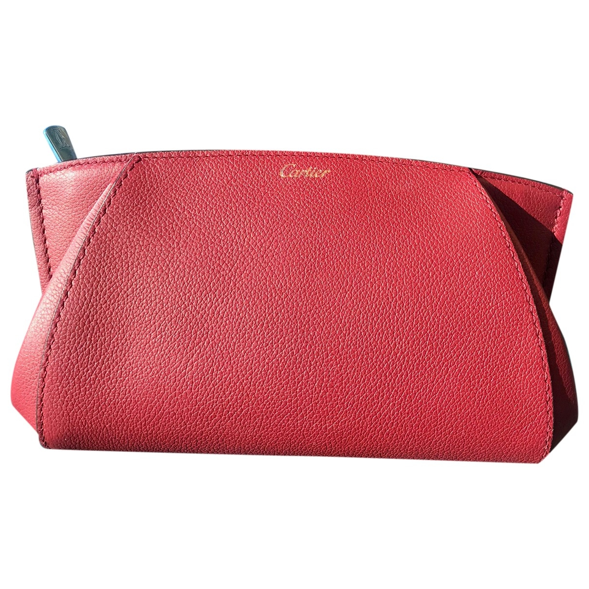 Cartier C Clutch in  Rot Leder