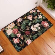 Bedruckte Bodenmatte mit Blumenauflage