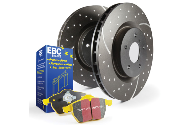 EBC Brakes S5KF1771 S5KF Kit Number Front Disc Brake Pad and Rotor Kit DP43019R+GD7607 Front