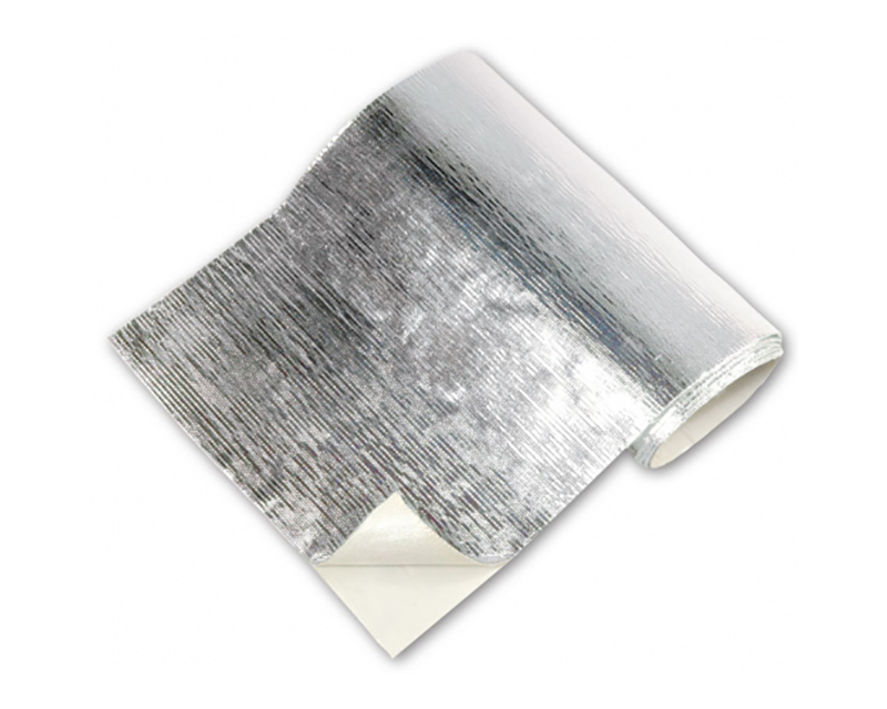 Heat Barrier 12 Inch x 50 Foot Up to 2000 Degree F Silver Adhesive Backed Thermo Tec 13575-50