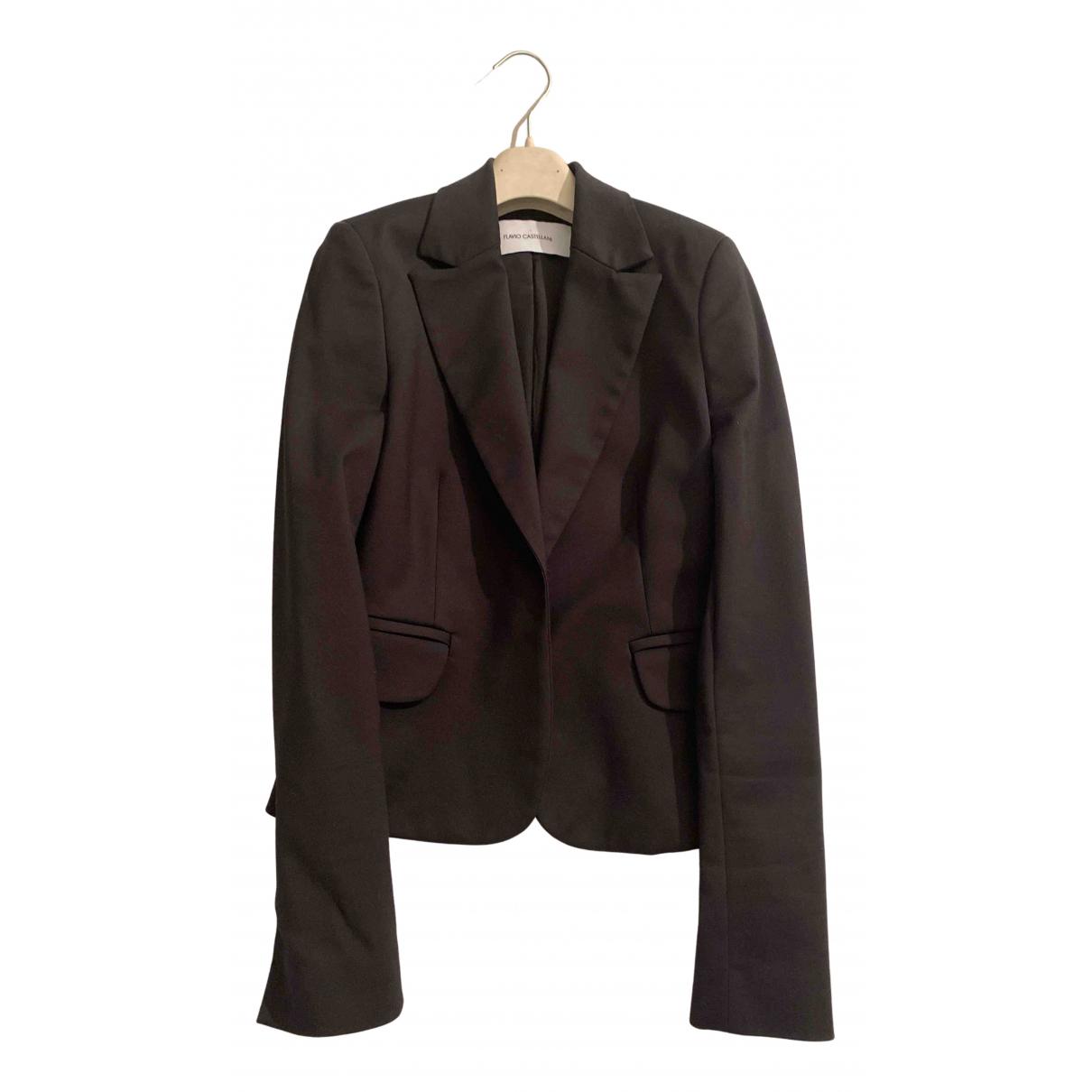 Flavio Castellani - Veste   pour femme en laine - noir