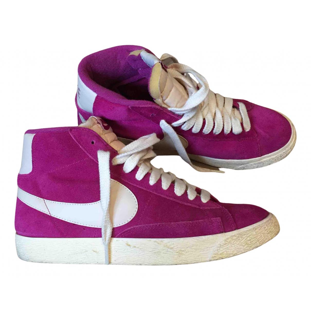 Nike - Baskets Blazer pour femme en suede - violet