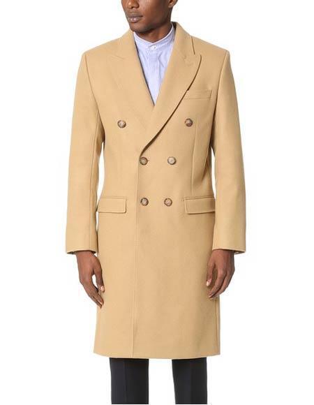 Alberto Nardoni  ~ Overcoat ~ Wool t Duster Style Camel
