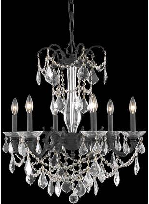 9706D23DB/RC 9706 Athena Collection Hanging Fixture D23in H26in Lt: 6 Dark Bronze Finish (Royal Cut