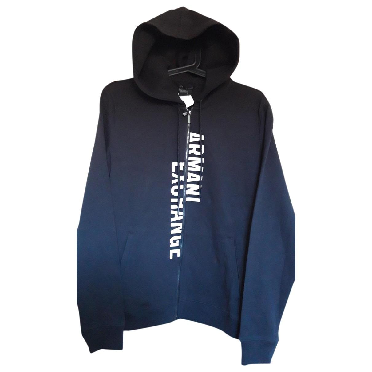 Emporio Armani \N Black Cotton jacket for Women 46 FR