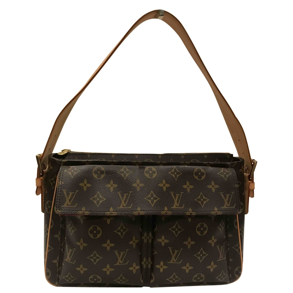 Louis Vuitton Viva Cite Handtasche in  Braun Leinen