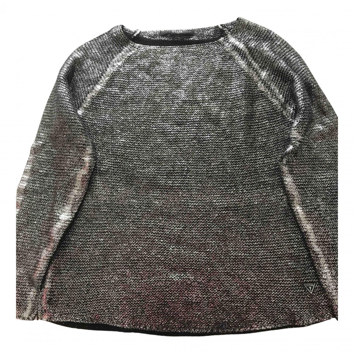 Guess - Pull   pour femme en laine - argente