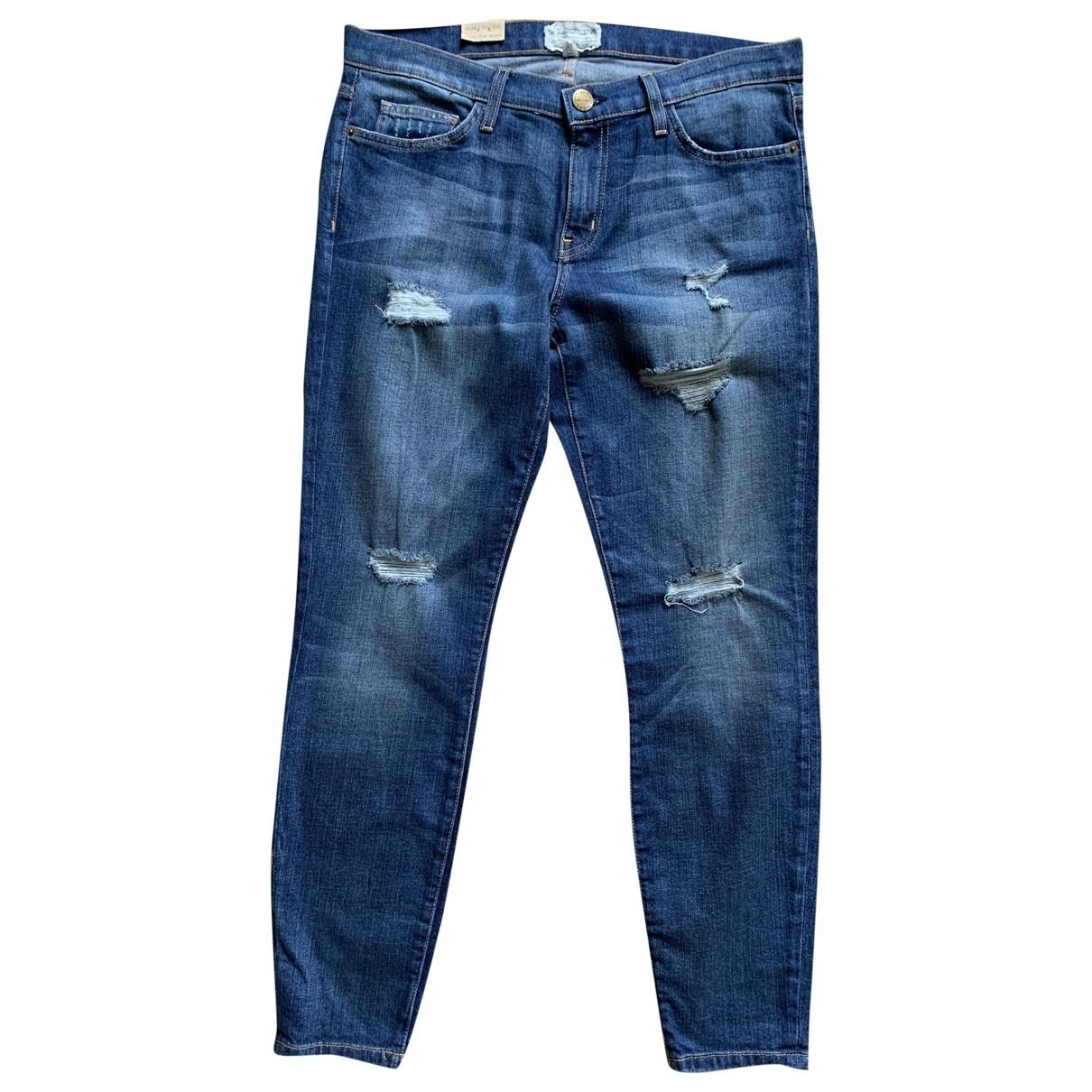 Current Elliott \N Blue Cotton - elasthane Jeans for Women 31 US