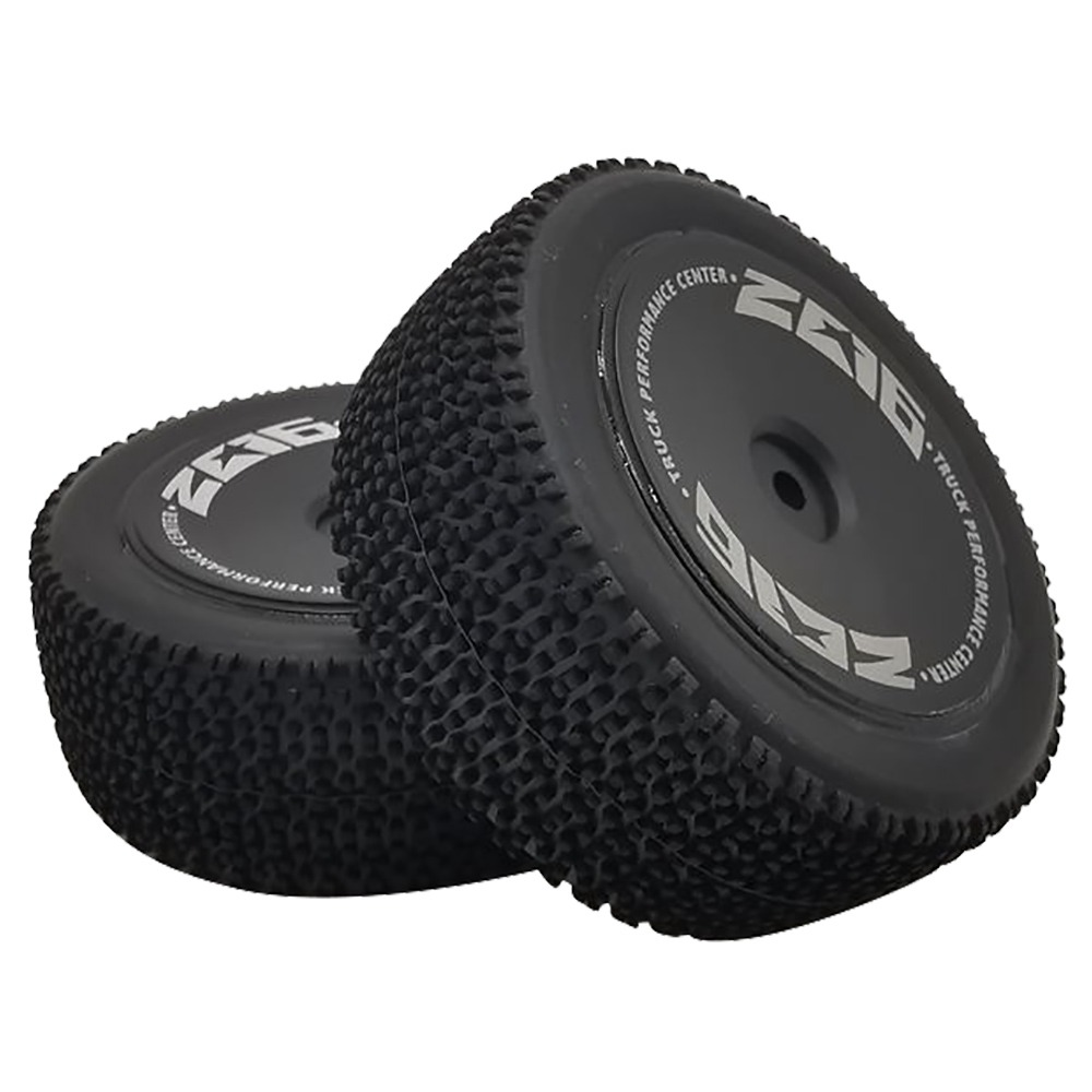 2pcs Wltoys 144001 1/14 2.4G 4WD Brushed Off-Road Buggy RC Car Spare Parts Rear Tire Set - Black