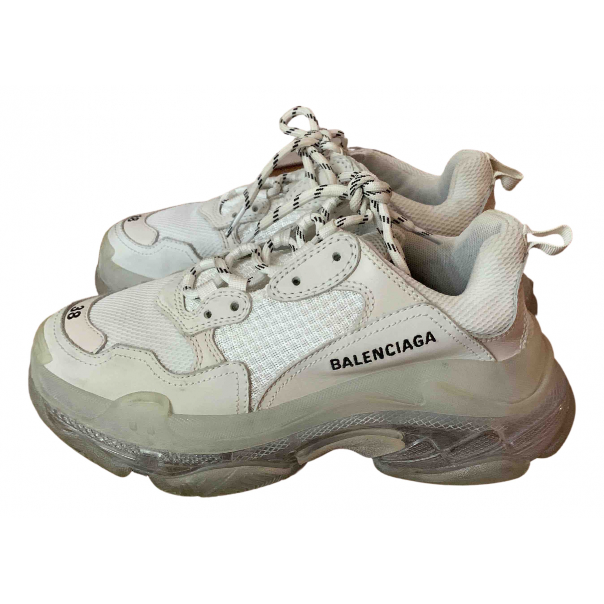 Balenciaga Triple S White Cloth Trainers for Women 38 EU