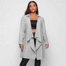 Mantel mit Wassertropfen Kragen