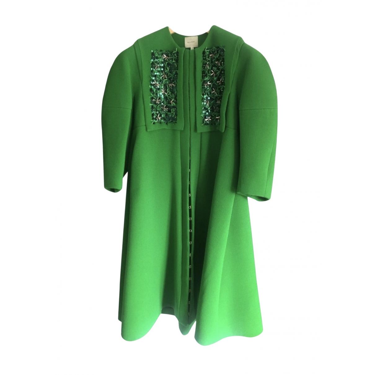 Delpozo - Manteau   pour femme en laine - vert
