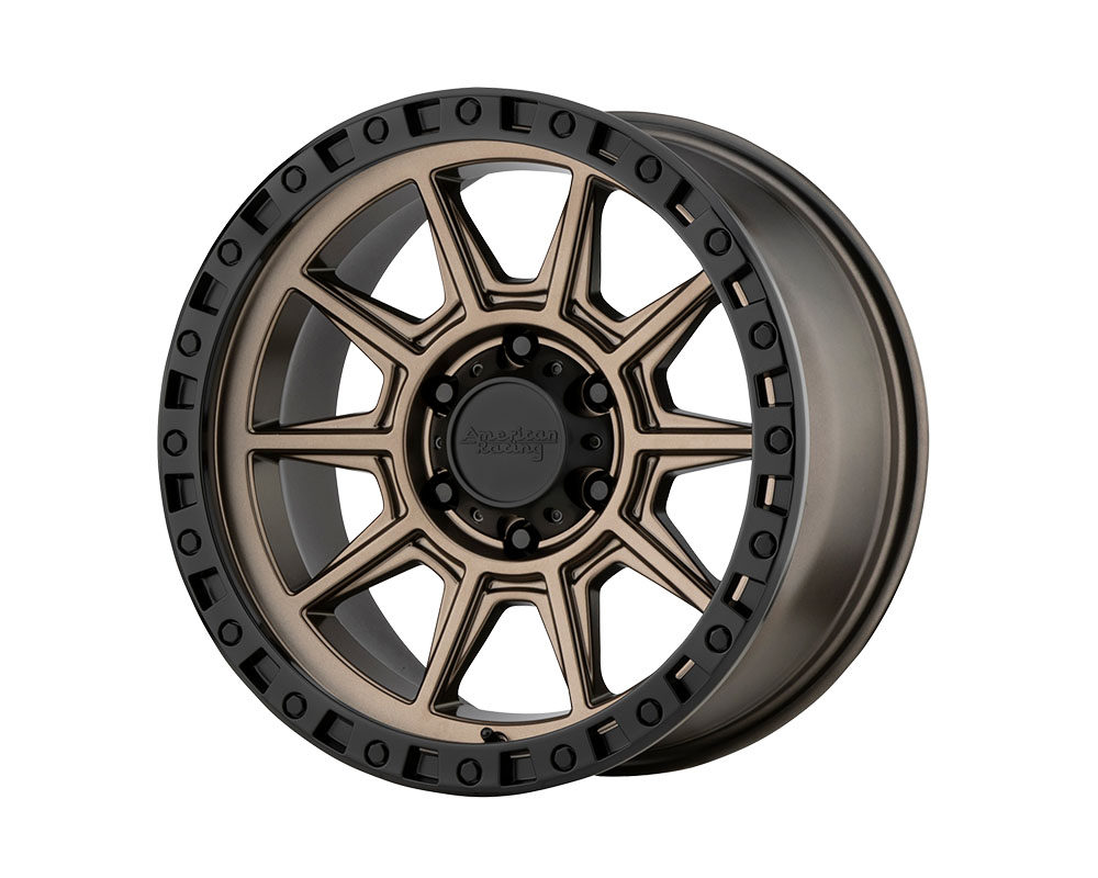American Racing AR202 Wheel 17x9 5x5x114.3 -12mm Matte Bronze Black Lip