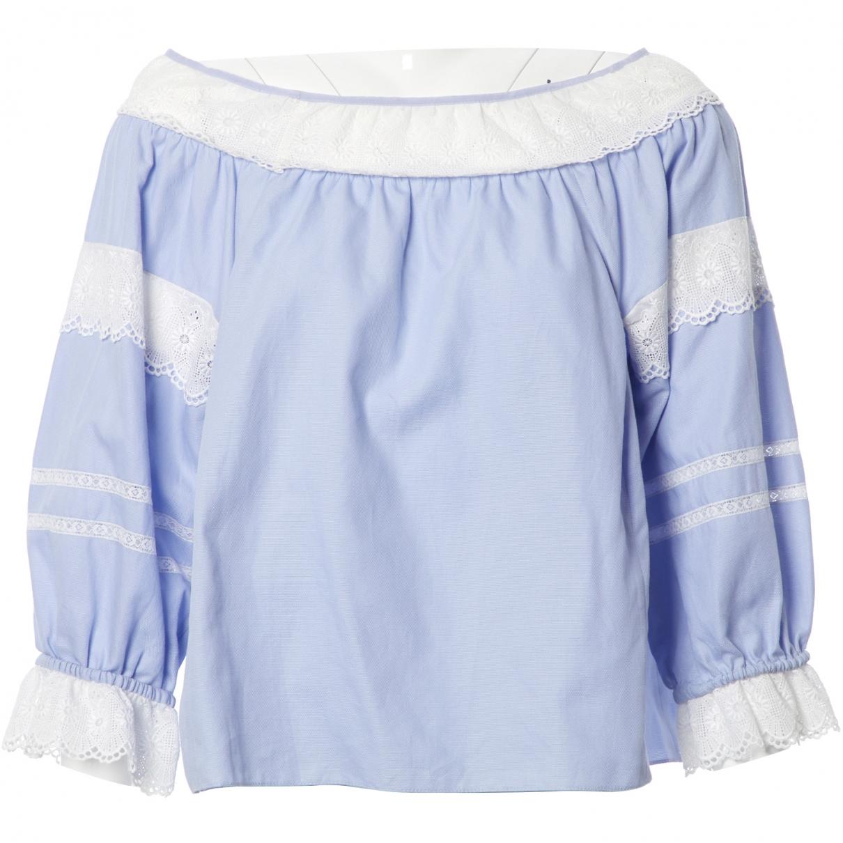 Vilshenko \N Top in  Blau Baumwolle