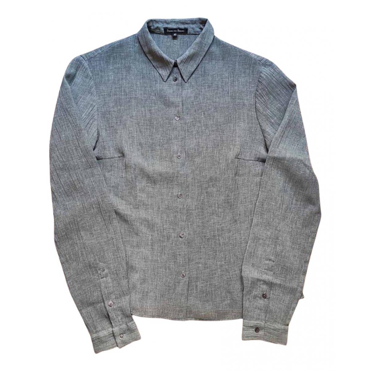 Pedro Del Hierro - Top   pour femme en coton - gris