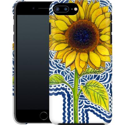 Apple iPhone 7 Plus Smartphone Huelle - Sunflower Drawing von Kaitlyn Parker