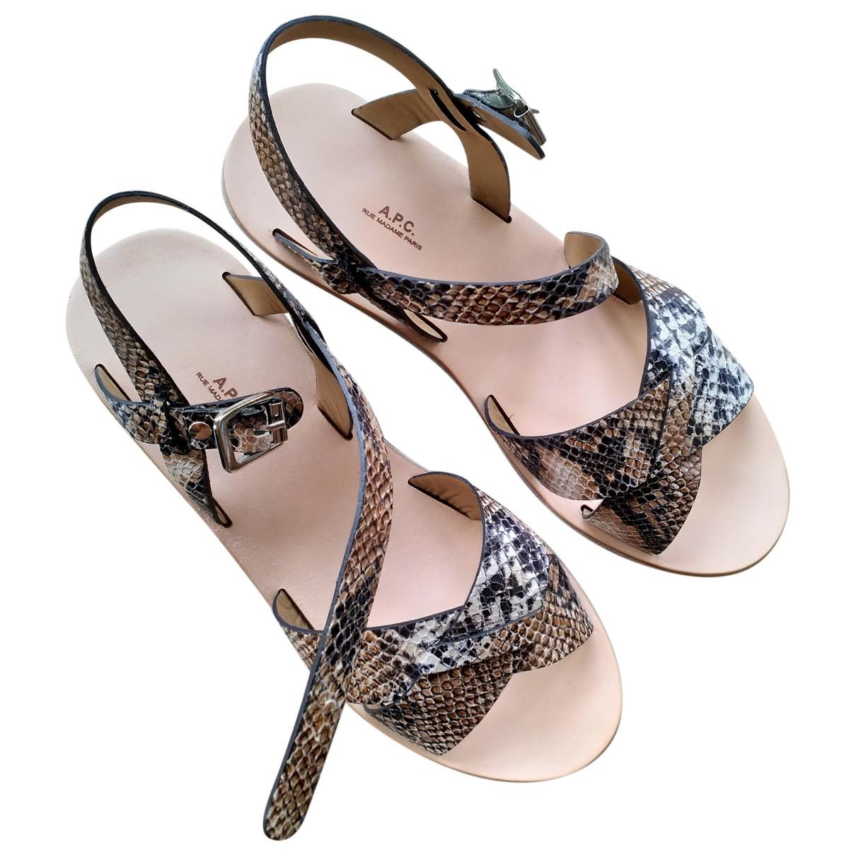Apc - Sandales   pour femme en cuir