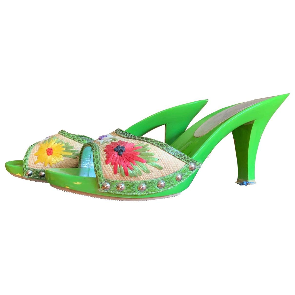 Dolce & Gabbana \N Sandalen in  Gruen Kunststoff
