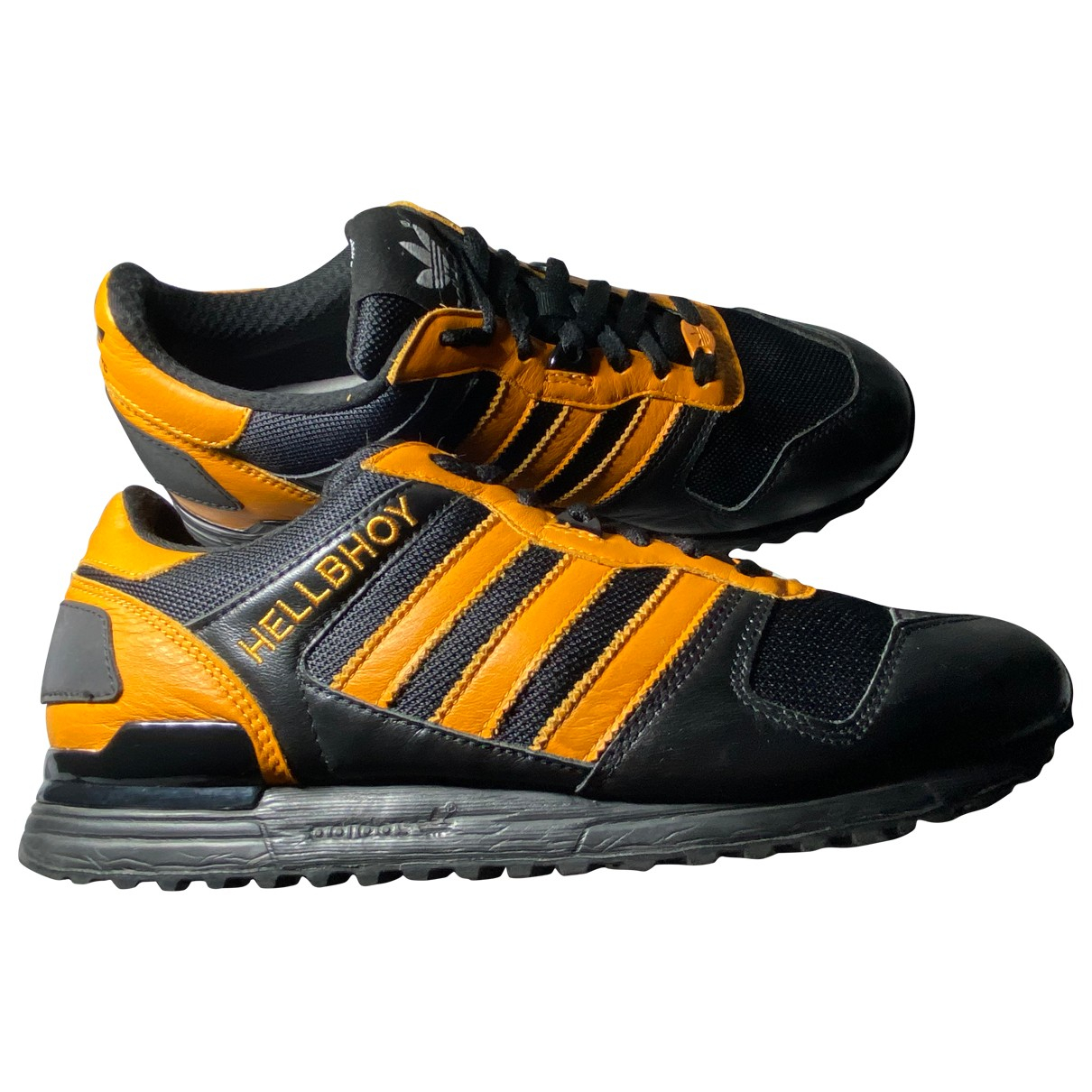 Adidas ZX Black Leather Trainers for Men 8 UK