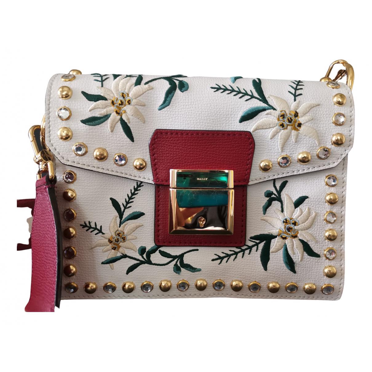 Bally \N Handtasche in  Weiss Leder