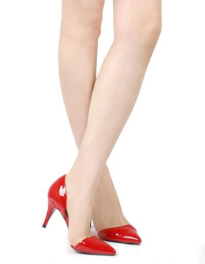 Milanoo Zapatos rojos de punta triangular