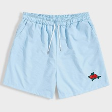 Guys Rose Patched Shorts