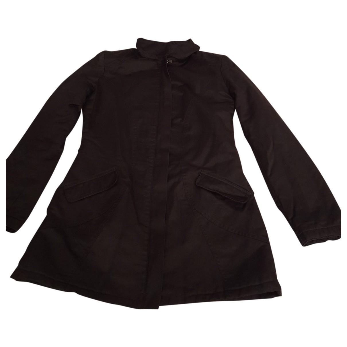 Versace Jean - Manteau   pour femme en coton - noir