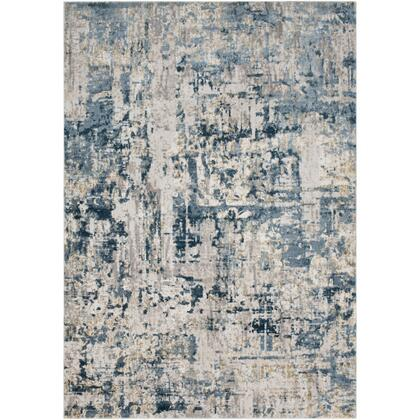 Quatro QUA-2303 67 x 96 Rectangle Modern Rug in Denim  Dark Blue  Medium Gray  Beige  Tan