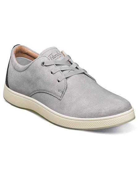 Mens Gray Three Eyelet Lacing Suede ~ Nubuck Shoe